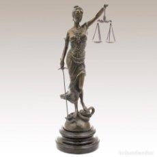 Arte: FIGURA DE BRONCE. JUSTICIA CON BALANZA 045CM (TEMIS). Lote 240243505