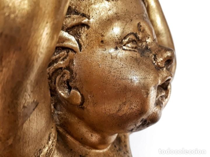Arte: Par de Esculturas en Madera Dorada Siglo XIX - Foto 5 - 176516559