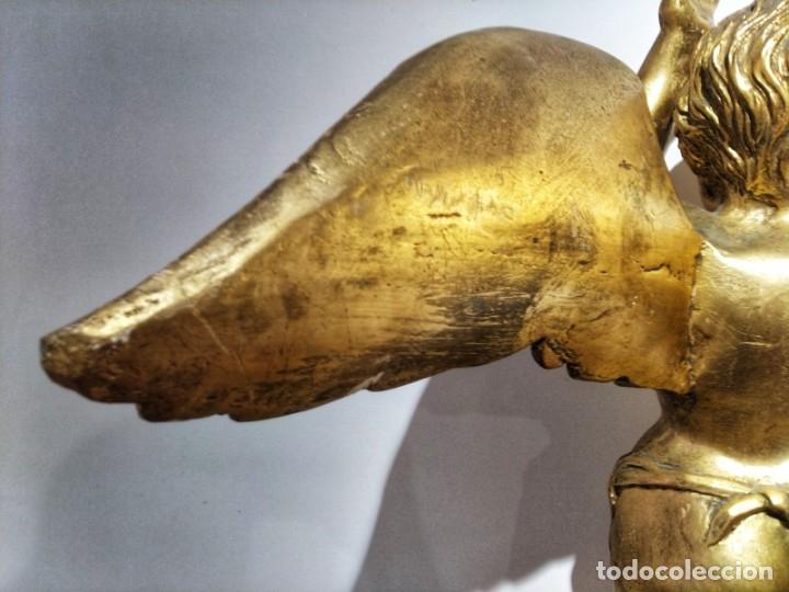 Arte: Par de Esculturas en Madera Dorada Siglo XIX - Foto 14 - 176516559