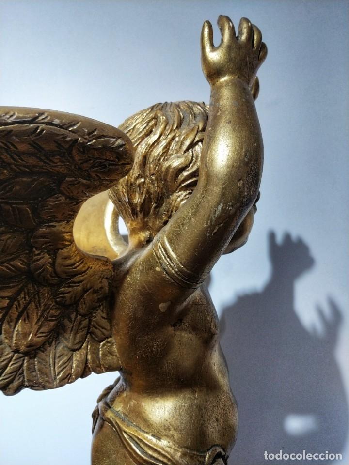 Arte: Par de Esculturas en Madera Dorada Siglo XIX - Foto 23 - 176516559