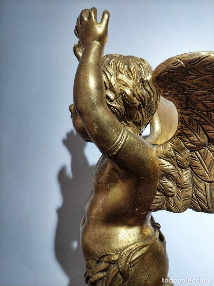 Arte: Par de Esculturas en Madera Dorada Siglo XIX - Foto 24 - 176516559