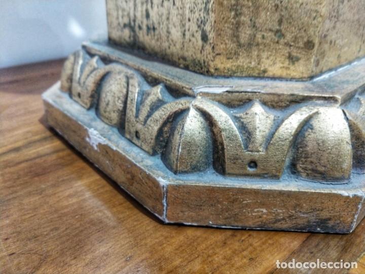 Arte: Par de Esculturas en Madera Dorada Siglo XIX - Foto 25 - 176516559