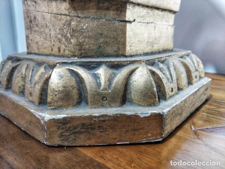 Arte: Par de Esculturas en Madera Dorada Siglo XIX - Foto 28 - 176516559