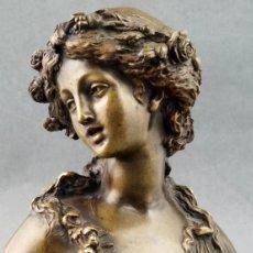 Arte: EXCEPCIONAL BUSTO DE BACANTE. BRONCE. JOSEPH CHARLES MARIN ( 1759-1834). EN PERFECTO ESTADO.. Lote 176908232