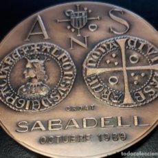 Arte: CONVENCIÓ NUMISMÁTICA DE SABADELL ( BRONCE. Lote 176981120
