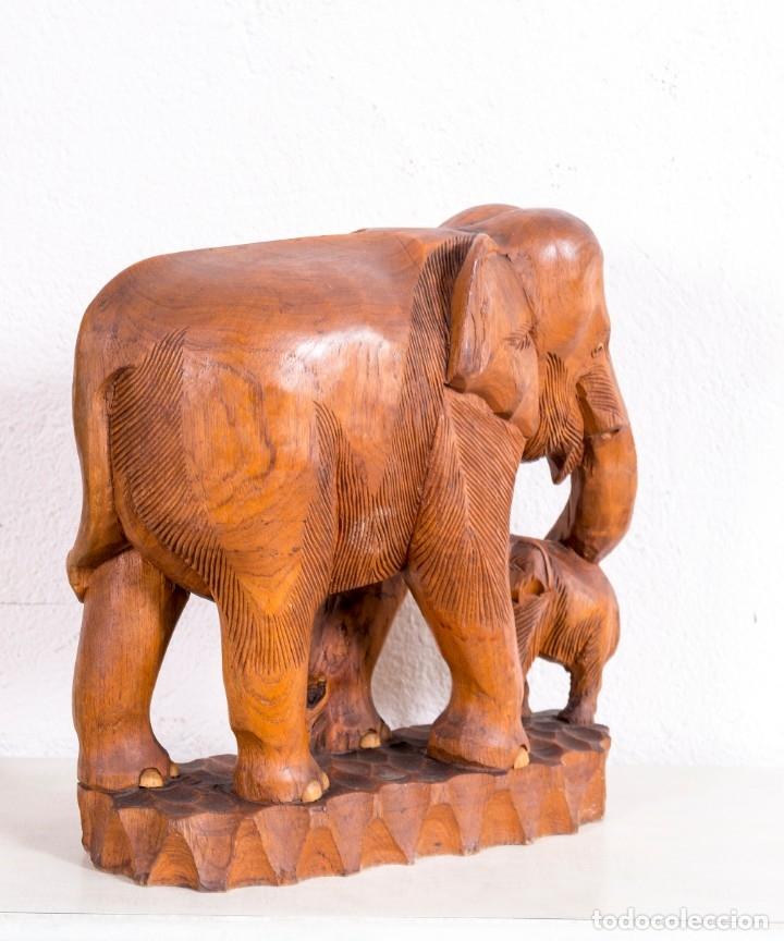 Arte: Escultura De Elefante De Madera - Foto 3 - 177403257