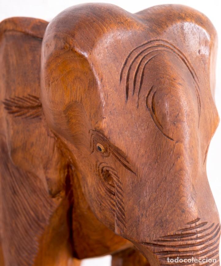 Arte: Escultura De Elefante De Madera - Foto 6 - 177403257