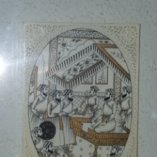 Arte: BONITA LAMINA PINTADA EN MARFIL CALADO.. Lote 177478242