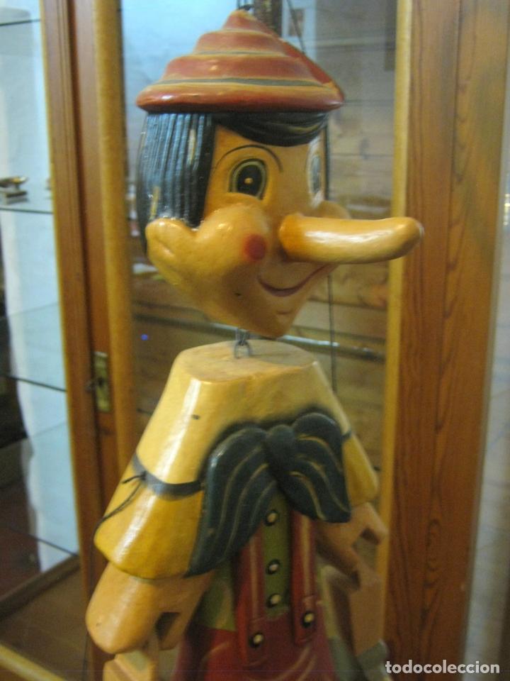 Arte: 68 cm - Gran marioneta articulada talla de madera - Pinocho - Foto 2 - 177617730