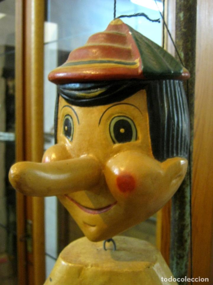Arte: 68 cm - Gran marioneta articulada talla de madera - Pinocho - Foto 3 - 177617730