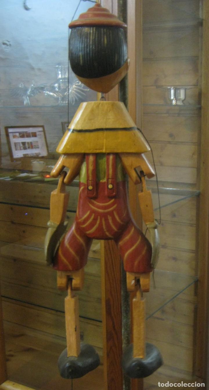 Arte: 68 cm - Gran marioneta articulada talla de madera - Pinocho - Foto 5 - 177617730