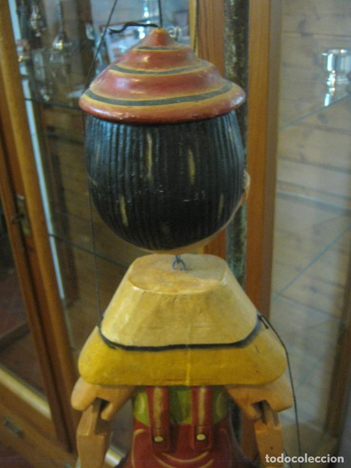 Arte: 68 cm - Gran marioneta articulada talla de madera - Pinocho - Foto 6 - 177617730