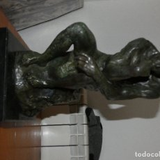 Arte: HACER OFERTA BRUTAL FIGURA BRONCE EL PENSADOR DE RODIN 9,95 KG CON BASE DE MARMOL ALTO 42 CM APROX. Lote 178125790