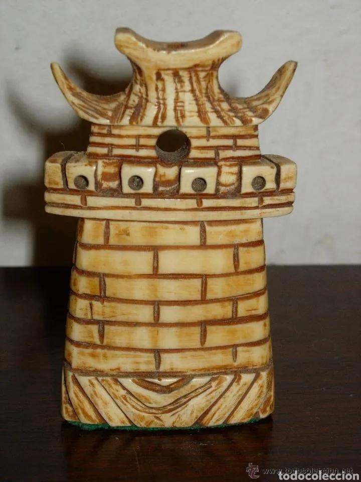 Arte: Escultura torre, antigua marfil - Foto 2 - 178357716