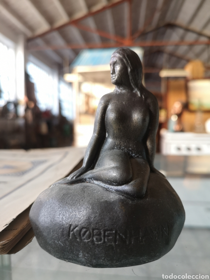 Arte: Pequeña escultura, The Little Mermaid, kobenhavn. La pequeña sirena. - Foto 5 - 178369620