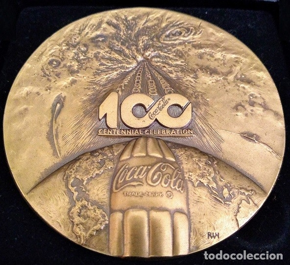 Arte: GRAN MEDALLON DE BRONCE MACIZO COCA COLA 100 ANIVERSARIO 1886 - 1986 DIFICIL DE CONSEGUIR - Foto 2 - 198683720