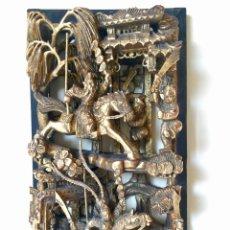 Arte: BONITO Y ANTIGUO RELIEVE ORIENTAL TALLADO EN MADERA. Lote 178574153