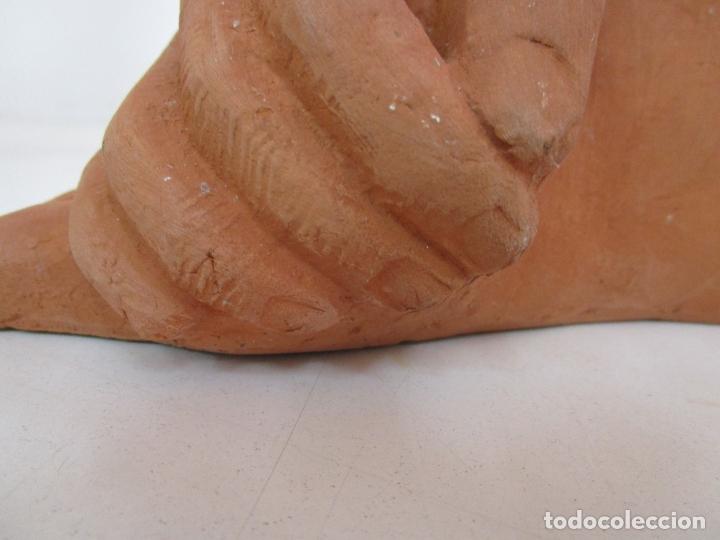 Arte: Escultura en Terracota - Mano y Pie - Sello Marco, Quart (Girona) - Foto 2 - 178612888