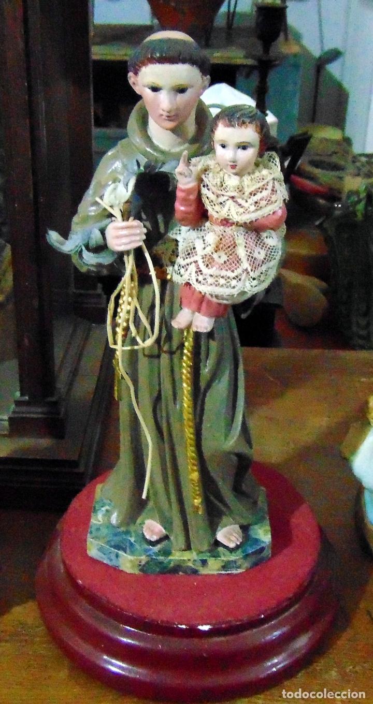 TALLA MADERA ANTIGUA, SAN ANTONIO, 30 CM, SIGLO XIX, MIRAR FOTOS (Arte - Escultura - Madera)