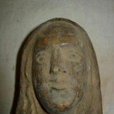 Arte: ESCULTURA CABEZA VIRGEN SANTA FINALES SIGLO XVIII, MADERA TALLADA. Lote 178717403