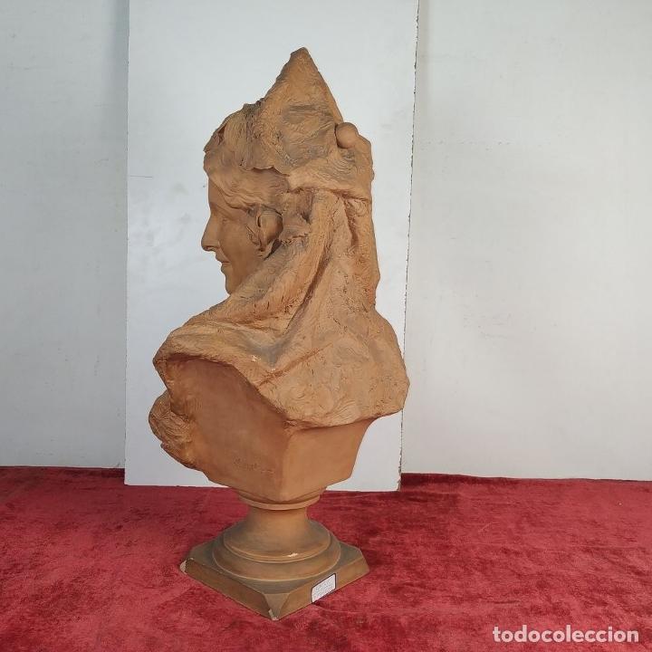 Arte: BUSTO DE DAMA ESPAÑOLA. TERRACOTA. FIRMADO VENANCIO VALLMITJANA. ESPAÑA. FIN SIGLO XIX - Foto 7 - 178752173
