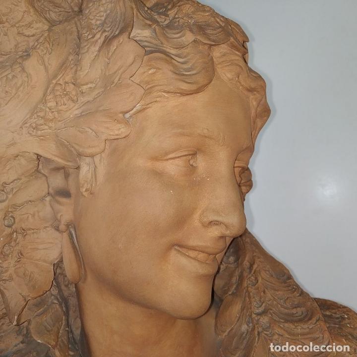 Arte: BUSTO DE DAMA ESPAÑOLA. TERRACOTA. FIRMADO VENANCIO VALLMITJANA. ESPAÑA. FIN SIGLO XIX - Foto 10 - 178752173