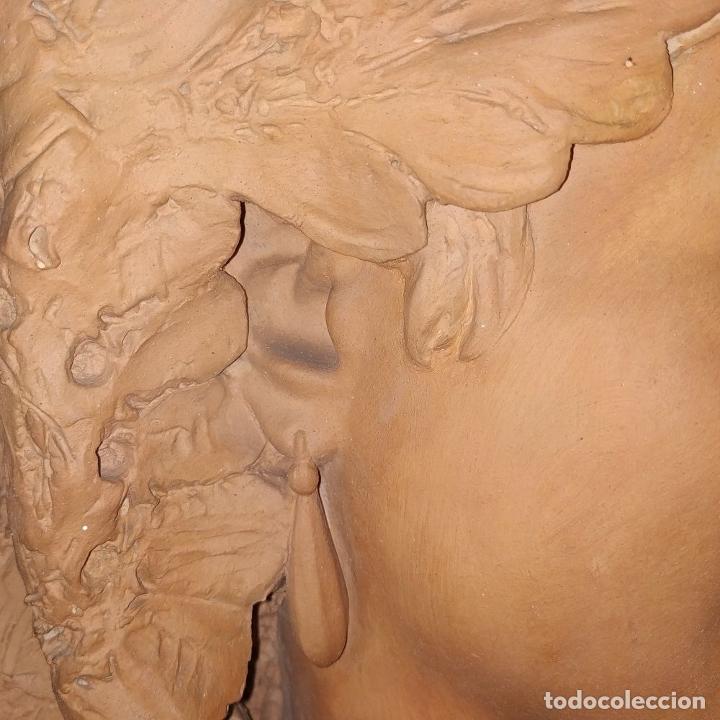 Arte: BUSTO DE DAMA ESPAÑOLA. TERRACOTA. FIRMADO VENANCIO VALLMITJANA. ESPAÑA. FIN SIGLO XIX - Foto 14 - 178752173