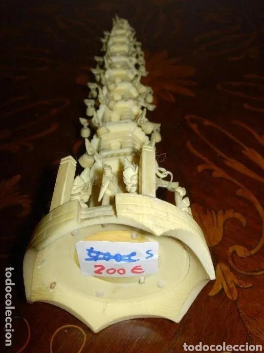 Arte: Escultura Pagoda casa, China antigua marfil - Foto 3 - 178763415
