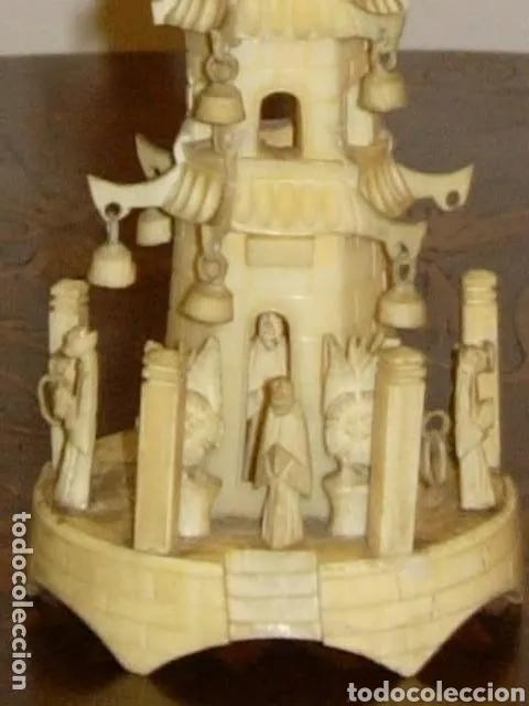 Arte: Escultura Pagoda casa, China antigua marfil - Foto 5 - 178763415