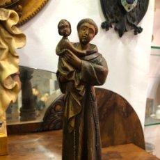 Arte: IMAGEN SAN ANTONIO TALLA MADERA - MEDIDA 31 CM - RELIGIOSO - CAPILLA. Lote 178815665
