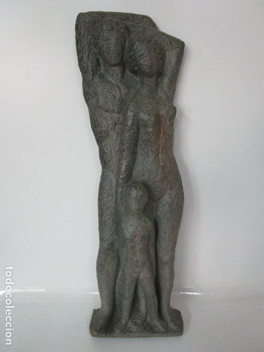 Arte: Escultura - Familia - Terracota - Firma José Martí-Sabé ( Santa Coloma de Farners , 1915 - 2006 ) - Foto 6 - 178928403