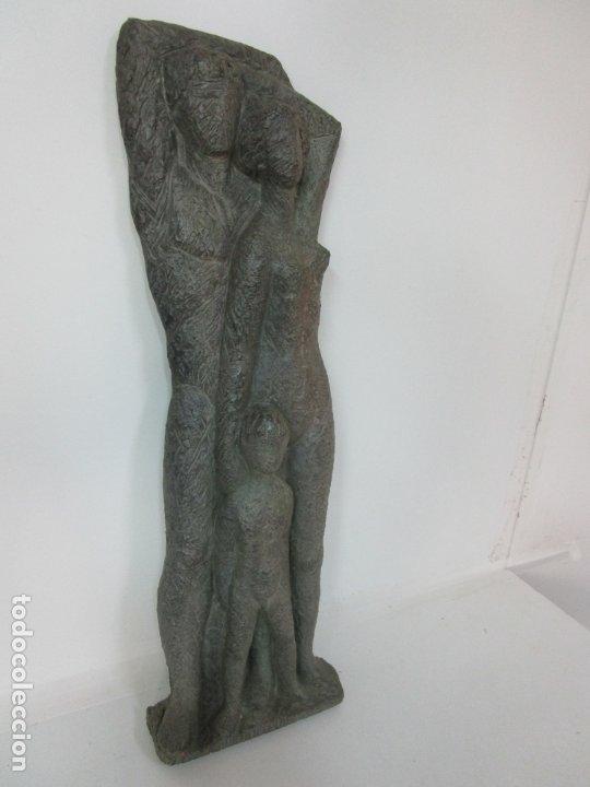 Arte: Escultura - Familia - Terracota - Firma José Martí-Sabé ( Santa Coloma de Farners , 1915 - 2006 ) - Foto 7 - 178928403