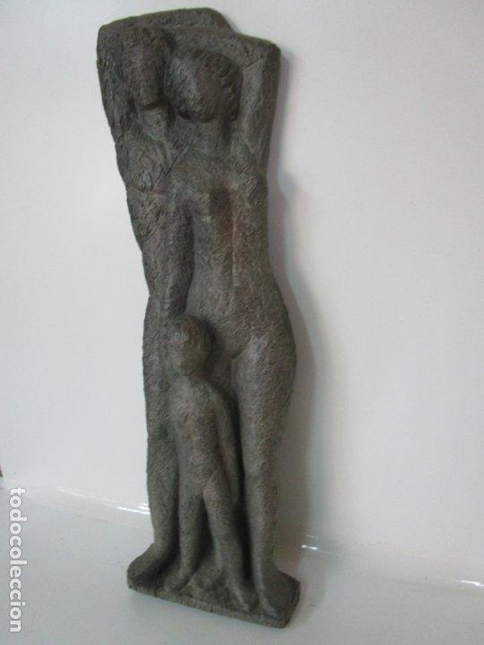 Arte: Escultura - Familia - Terracota - Firma José Martí-Sabé ( Santa Coloma de Farners , 1915 - 2006 ) - Foto 9 - 178928403