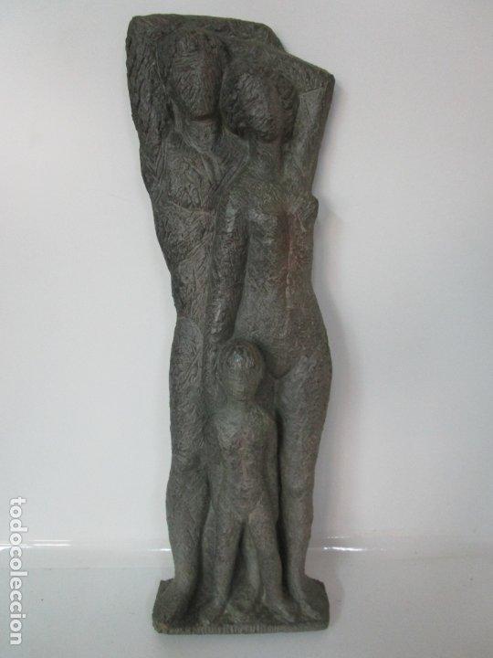 Arte: Escultura - Familia - Terracota - Firma José Martí-Sabé ( Santa Coloma de Farners , 1915 - 2006 ) - Foto 11 - 178928403
