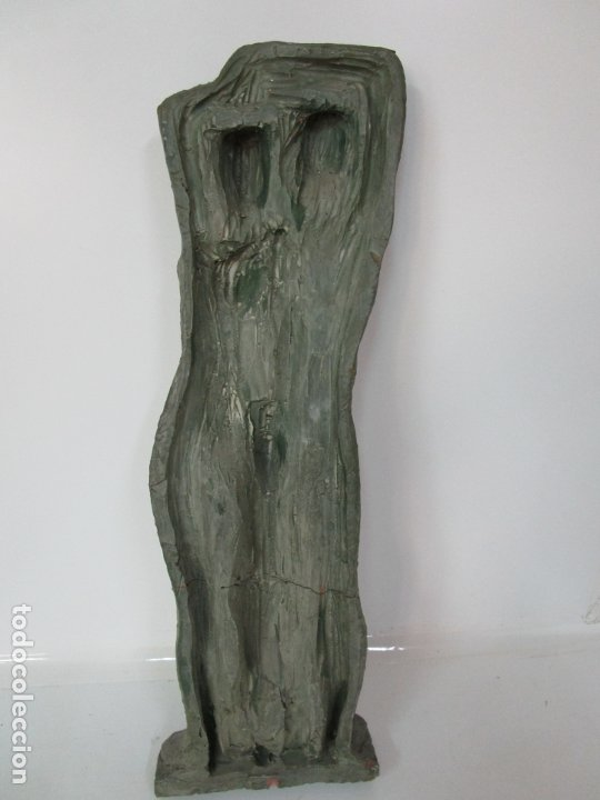Arte: Escultura - Familia - Terracota - Firma José Martí-Sabé ( Santa Coloma de Farners , 1915 - 2006 ) - Foto 12 - 178928403