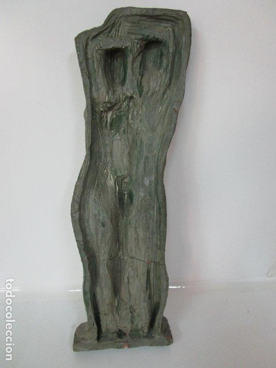Arte: Escultura - Familia - Terracota - Firma José Martí-Sabé ( Santa Coloma de Farners , 1915 - 2006 ) - Foto 16 - 178928403