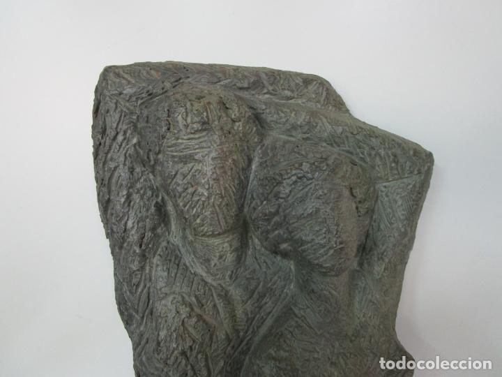 Arte: Escultura - Familia - Terracota - Firma José Martí-Sabé ( Santa Coloma de Farners , 1915 - 2006 ) - Foto 17 - 178928403