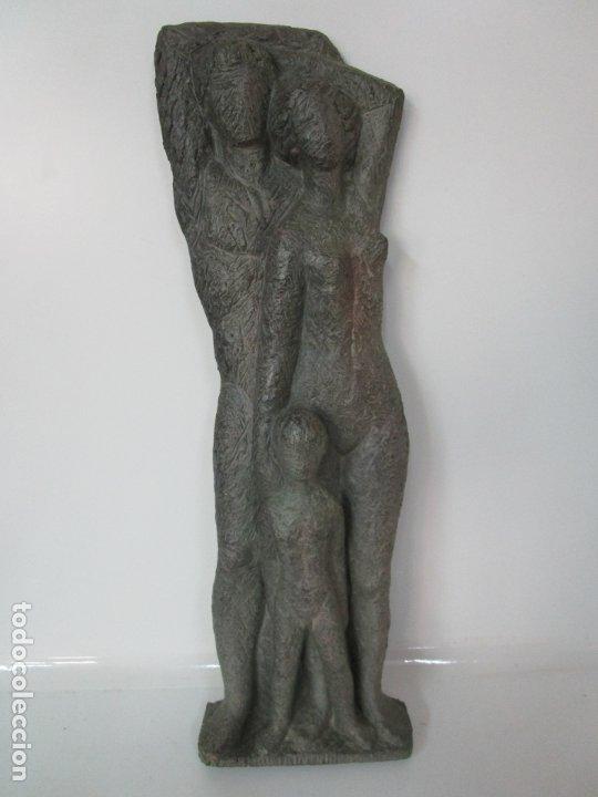 Arte: Escultura - Familia - Terracota - Firma José Martí-Sabé ( Santa Coloma de Farners , 1915 - 2006 ) - Foto 18 - 178928403