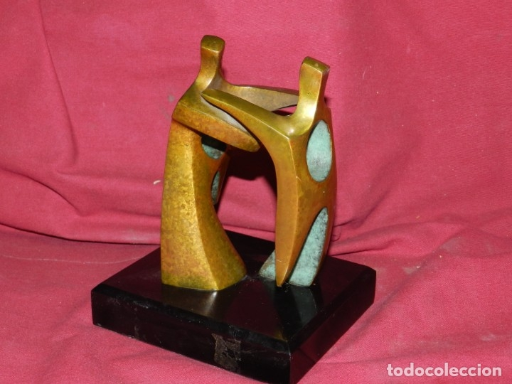(M) ESCULTURA DE BRONCE FIRMADA POR FIDEL GOAS 31/50, 18X14,5 CM, BUEN ESTADO (Arte - Escultura - Bronce)