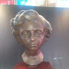 Arte: JACINTO HIGUERAS , HERMOSA ESCULTURA DE BRONCE , SOBRE PEANA 8,900 KG PESO. Lote 178989923