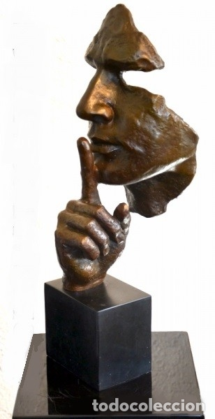 ESCULTURA MODERN ART EN BRONCE A TAMAÑO REAL. HOMENAJE A DALÍ (46CM & 5,2KG) (Arte - Escultura - Bronce)