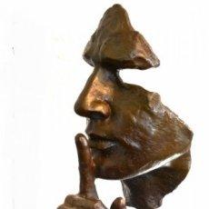 Arte: ESCULTURA MODERN ART EN BRONCE A TAMAÑO REAL. HOMENAJE A DALÍ (46CM & 5,2KG). Lote 179012661