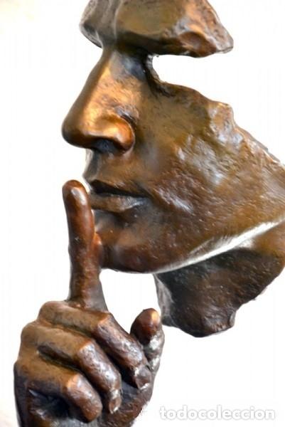 Arte: ESCULTURA MODERN ART EN BRONCE A TAMAÑO REAL. HOMENAJE A DALÍ (46cm & 5,2kg) - Foto 3 - 179012661