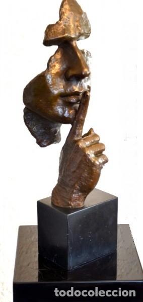 Arte: ESCULTURA MODERN ART EN BRONCE A TAMAÑO REAL. HOMENAJE A DALÍ (46cm & 5,2kg) - Foto 4 - 179012661