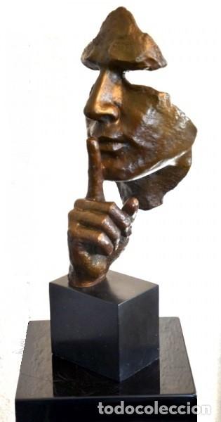 Arte: ESCULTURA MODERN ART EN BRONCE A TAMAÑO REAL. HOMENAJE A DALÍ (46cm & 5,2kg) - Foto 5 - 179012661