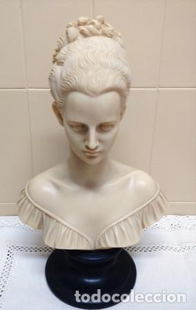 HERMOSO BUSTO DE DONCELLA FIRMADO POR ARNALDO GIANNELLI (Arte - Escultura - Alabastro)