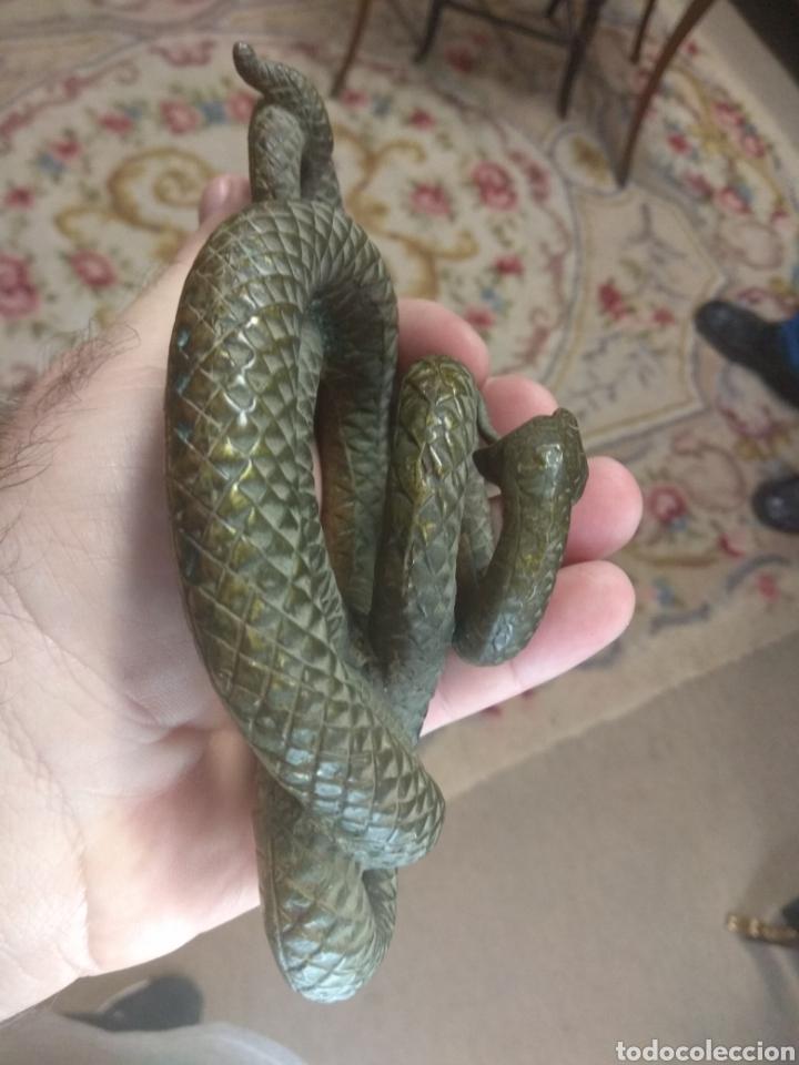 Arte: Espectacular Serpiente de Bronce - Foto 14 - 179536671