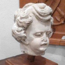 Arte: CABEZA DE PIEDRA, QUERUBÍN, ÁNGEL, S.XVI-XVII. Lote 179550235
