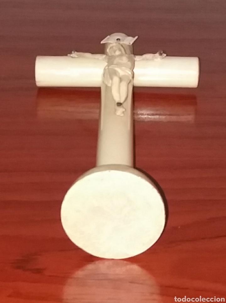 Arte: Escultura Cristo en cruz, aprox Año 1840 marfil - Foto 6 - 180014953