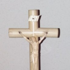 Arte: ESCULTURA CRISTO EN CRUZ, APROX AÑO 1840 MARFIL. Lote 180014953